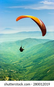 Paragliding in the valley