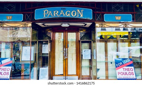The Paragon - famous now closed Paragon Chocolate shop, Katoomba St, Katoomba, New South Wales, Australia on 5 June 2019.