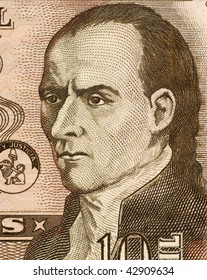 PARAGUAY - CIRCA 2004: Dr. Jose Gaspar Rodriguez de Francia on 10000 Guaranies 2004 Banknote from Paraguay. First leader of Paraguay after its independence from Spain.
