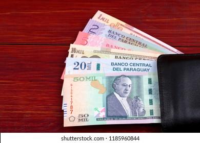 Paraguayan Guaranies in the black wallet