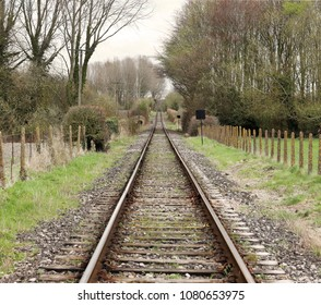 Parallel Railway Tracks converging into the distance