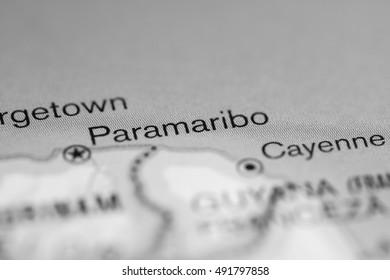 Paramaribo. South America.