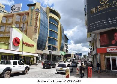 Paramaribo Suriname - July 13 2016 - Downtown at Paramaribo, capital of Suriname