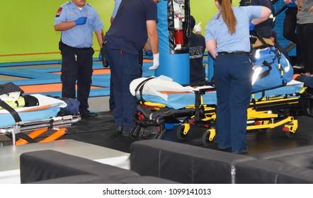 paramedics on the scene