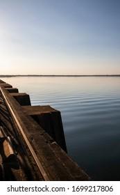 Parana River at Itaipu Dam hydroelectric between Brazil and Paraguay. Itaipu Binational.