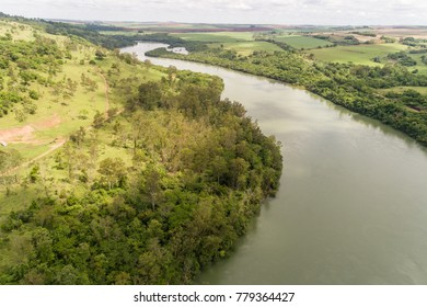 Paranapanema River, between states os Sao Paulo and Parana, Brazil