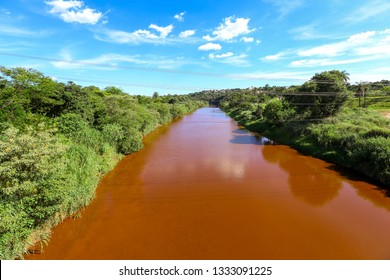 Paraopeba River polluted by tailings after the collapse of Dam of the Córrego do Feijão mine of Vale S.A. in Brumadinho, Minas Gerais, Brazil