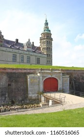 Parapet Wall and Gate at Kronborg Castle, Copenhagen, Denmark