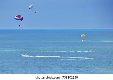 Parasailing in Key West, Florida, United States