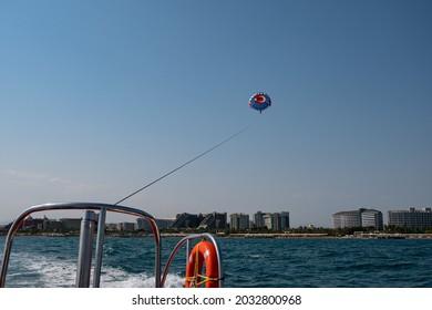 Parasailing in Lara beach, Antalya