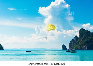 Parasailing Sky Parachute Fun