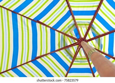parasol from below