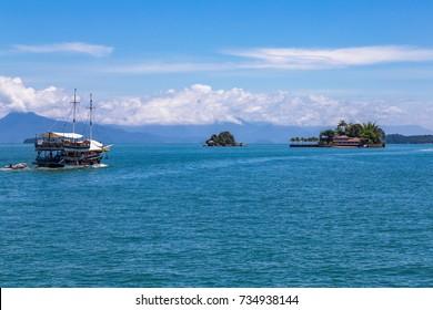 Paraty Bay Islands in Brazil.