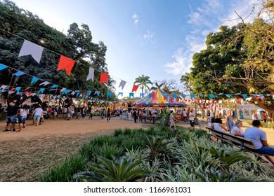 Paraty, Rio de Janeiro, Brazil - July 27, 2018 - FLIP - International Literary Festival of Paraty.