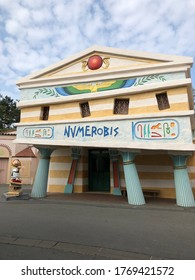 Parc Asterix, France, August the 30th 2018 - a souvenir store in Parc asterix.