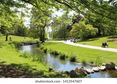 """""""Parc barbieux"""", public park in Roubaix (North of France)"""