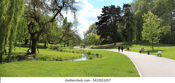 """Parc barbieux"", public park in Roubaix (North of France)"