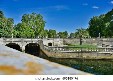 """Parc Domanial"", Nîmes, France View of the Roman canals ans the park"