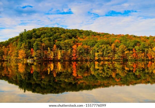 Parc national du Mont Saint Bruno in autumn