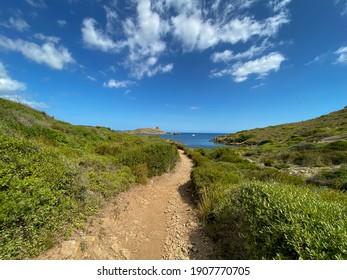 Parc Natural Es Grau, Menorca, Balearic Islands, Camí de Cavalls Es Grau-Favaritx, September 2020, Spain