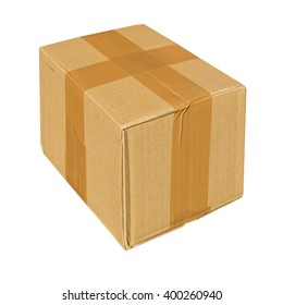 Parcel or small packet isolated over white