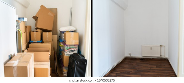 Parcel Storage Room Decluttering Before And After