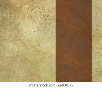 parchment background with copy space in soft warm brown and beige with dark copper rust colored graphic art design layout stripe to add your own text