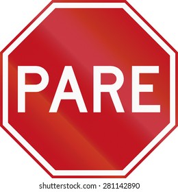 Pare sign in Colombia. Pare means stop.