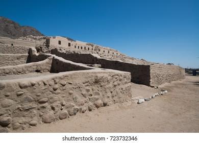 The Paredones ruins near Nazca, Ica, Peru