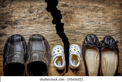 Parent and child shoes - Divorce