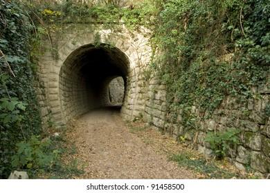 Parenzana railway tunnel