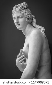 Parian marble statue of Aphrodite, archaeological museum of Athens, found at Baiai in southern Italy.
