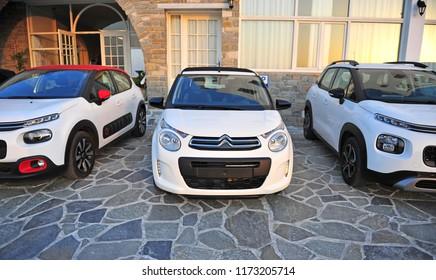PARIKIA, GREECE - APRIL 19: New models of Citroen automobiles, Greece on April 19, 2018.