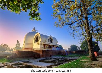 Parinirvana Stupa and temple, Kushinagar, India