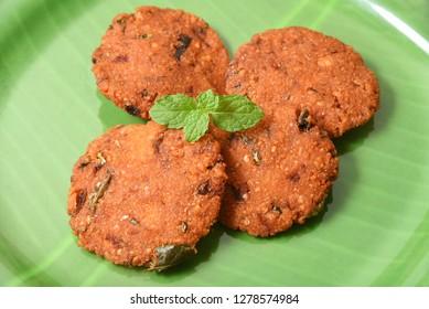 Parippu vada Kerala Snacks lentil or dal fritters popular South Indian deep fried hot and spicy tea time food. Traditional food for Ramadan, Onam, Vishu in tamil nadu, Street food of India.