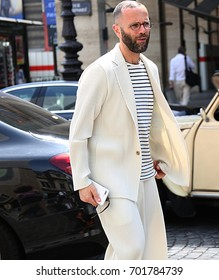 PARIS- 22 June 2017 Angelo Flaccavento on the street during the Paris Fashion Week