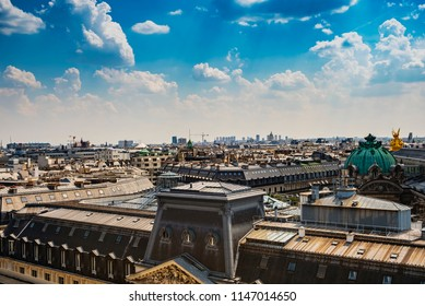 Paris from above with it's historic buildings