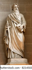 Paris - apostle Paul statue from Germain-l'Auxerrois gothic church