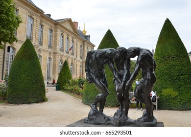 PARIS - AUG 3: The Three Shades at the Musee Rodin in Paris, France, is shown here on August 3, 2016.