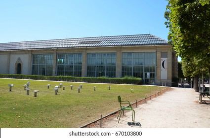 PARIS - AUG 7:  The Musee de l'Orangerie in Paris, France is shown on August 7, 2016. It houses impressionist and post-impressionist art