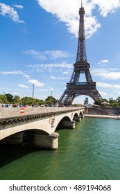 PARIS - AUGUST 28 - 2016: Eiffel Tower, symbol of Paris