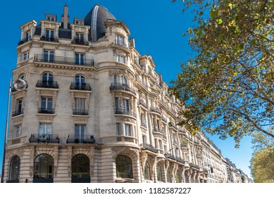 Paris, beautiful building boulevard Richard-Lenoir, typical parisian facade