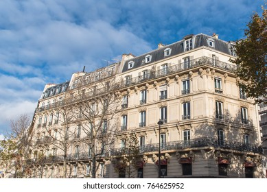 Paris, beautiful Haussmann facade in a attractive area of the capital, in the 11e district