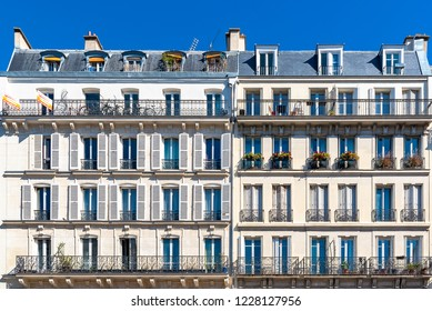 Paris, beautiful house in Montmartre, typical parisian facade rue Lepic