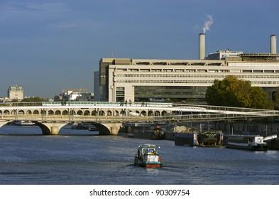 Paris, bercy bridge and Ministry of Economy