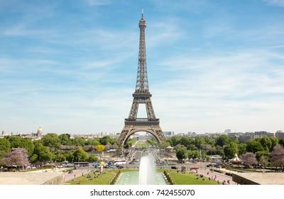 Paris best angle. Eiffel Tower front landscape photo