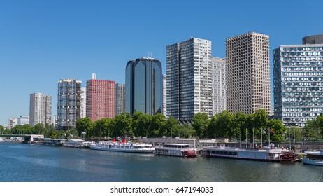 Paris, buildings on the Seine, Front de Seine, Grenelle district