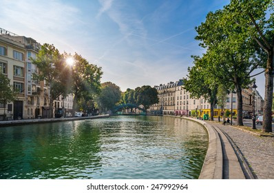 Paris - Canal Saint Martin, France