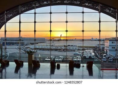 Paris CDG airport terminal view on 22 October 2018