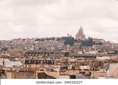 Paris city skyline .The view from the Pompidou centre.